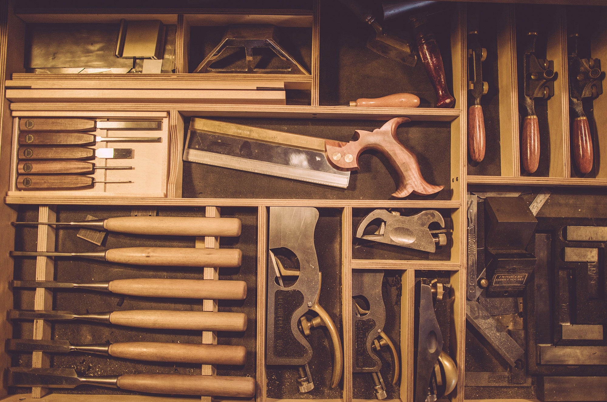 Using the right tools for making bespoke furniture