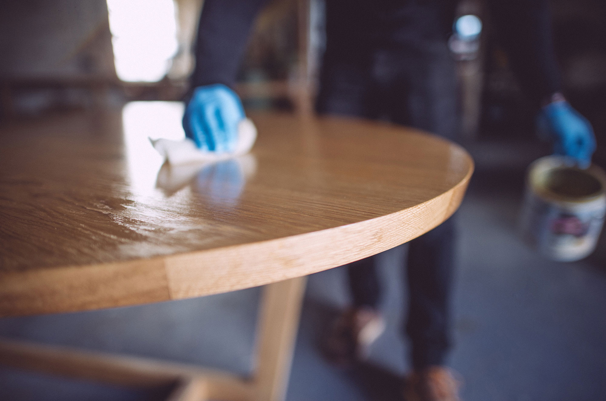 We select the right finish for each piece of furniture, be it oil, wax or lacquer.