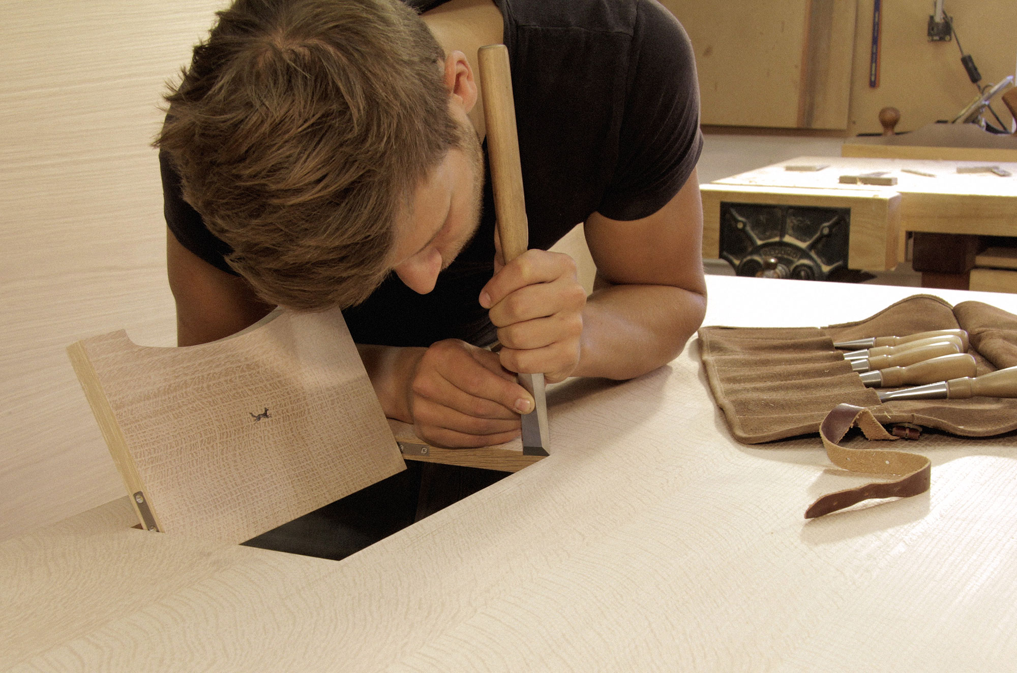 Finest materials are chosen for the making of high end commercial furniture by hand